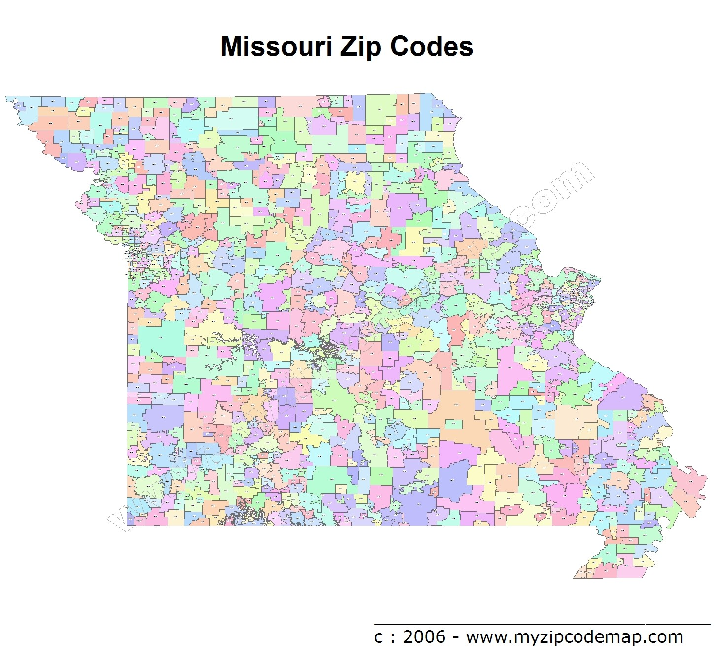 Missouri Zip Code Maps