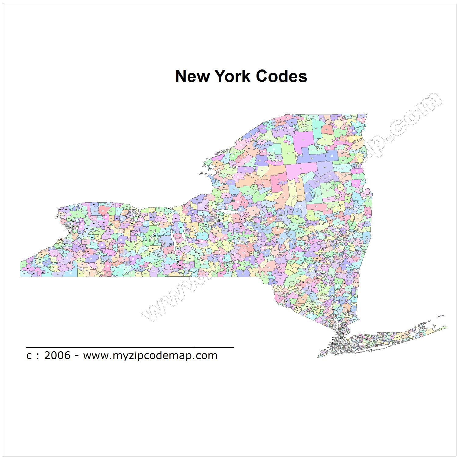 New York State Map Zip Codes