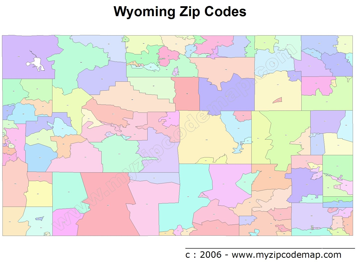 Wyoming Zip Code Maps Free Wyoming Zip Code Maps